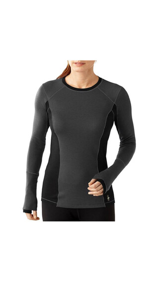 Smartwool W's PhD Light LS Shirt Charcoal Heather